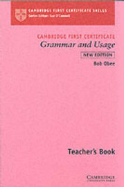 Cambridge First Certificate Grammar and Usage Teacher's Book by Robert Obee image