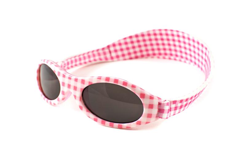 Adventure Baby Banz Sunglasses (Pink Check) image