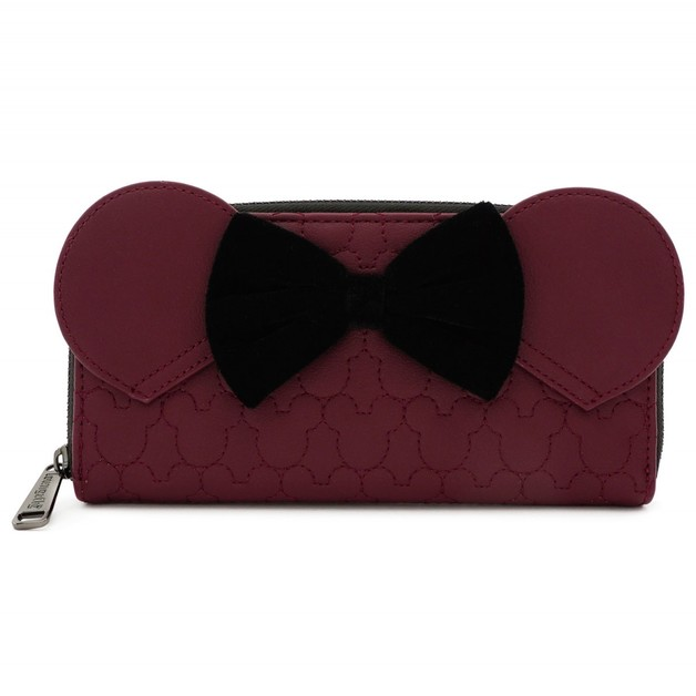 Loungefly: Mickey Mouse - Brown with Bow & Ears Zip Wallet