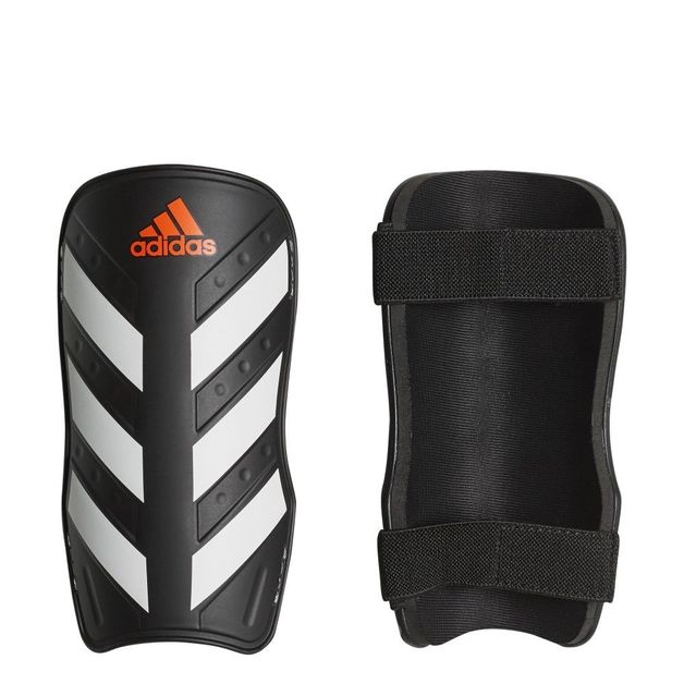 Adidas: Everlite Shin Guard - Black/White/Solar Red (Medium)