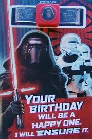 Star Wars: Interactive Sound Birthday Card - Kylo Ren