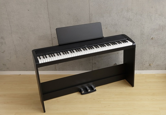 Korg B2 Digital Piano Black with triple pedal unit and stand