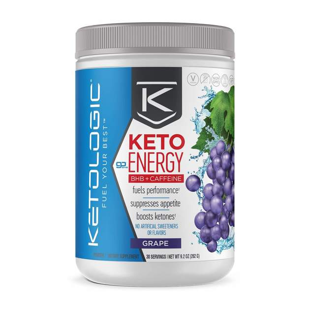 Ketologic: Keto Energy BHB + Caffeine - Grape (30 Serves)