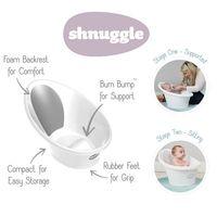 Shnuggle Bath - White / Grey Backrest