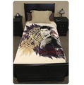 """Twilight Breaking Dawn Large Fleece Blanket - """"Jacob with Tattoo and Ferns"""""""