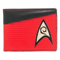 Star Trek Red Bi-Fold Wallet