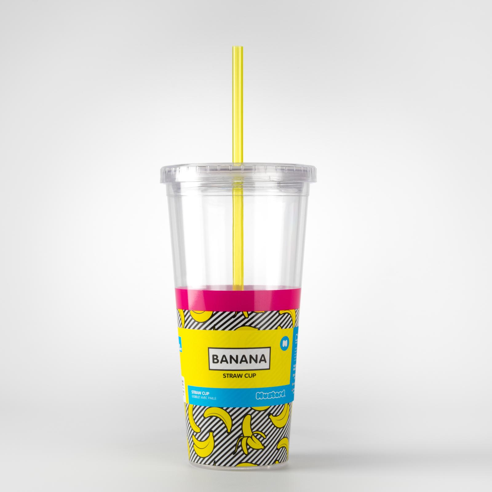 Mustard: Straw Cup Double Wall Tumbler - Banana image
