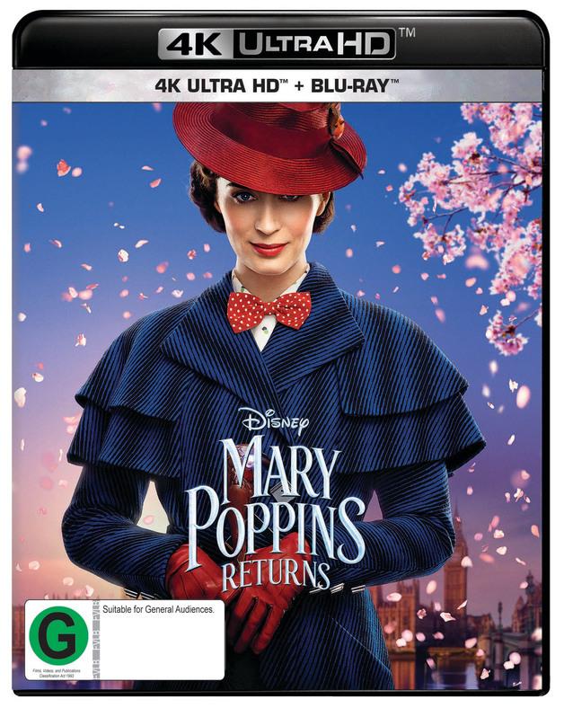 Mary Poppins Returns on Blu-ray, UHD Blu-ray