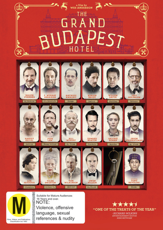 The Grand Budapest Hotel on DVD