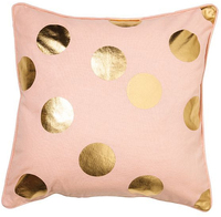 General Eclectic Dots Cushion - Pink & Gold