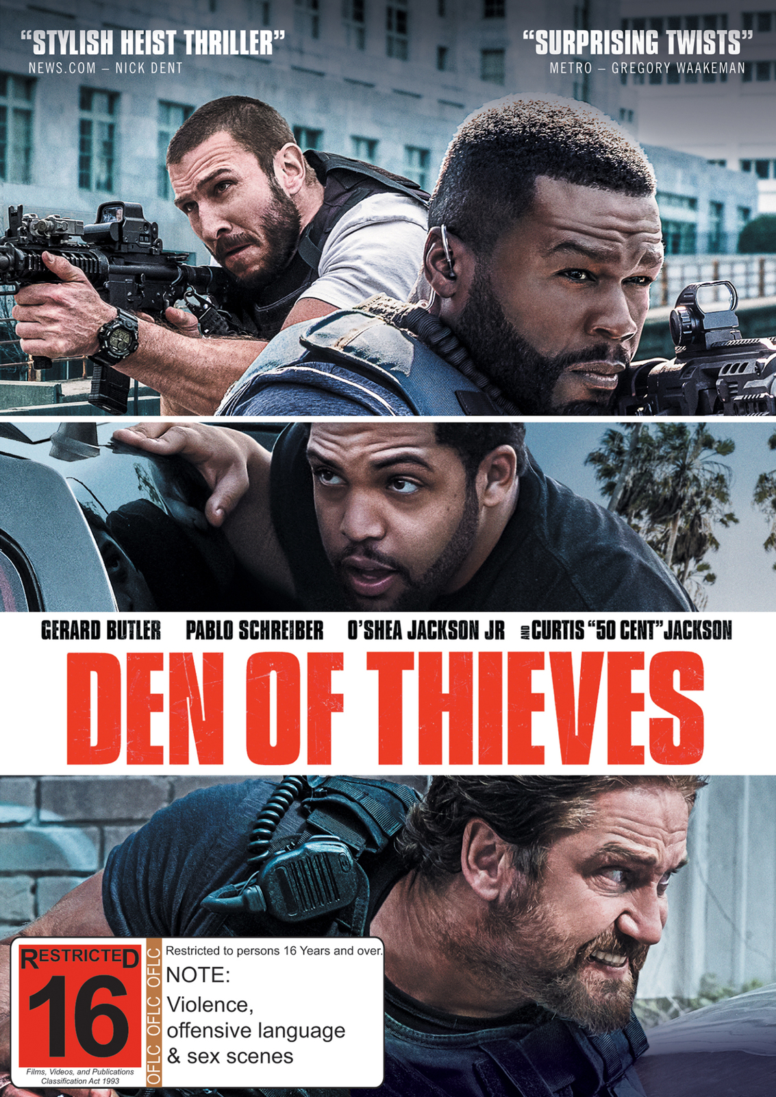 Den of Thieves on DVD image