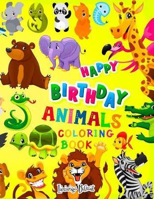 Happy Birthday Animal Coloring Book by Lamingo Bifrost