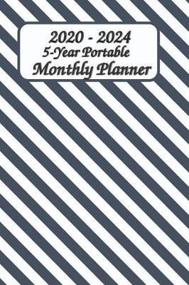 2020 - 2024 5-Year Portable Monthly Planner 6x9 by Green Cycle