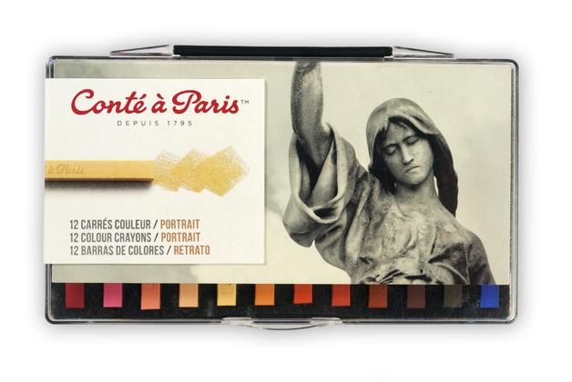 Conte Carre: Crayon Portrait Assorted Colours (Set 12)