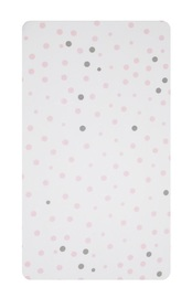 Little Baby Turtle: Cot Fitted Sheet - Pale Pink & Grey Spots