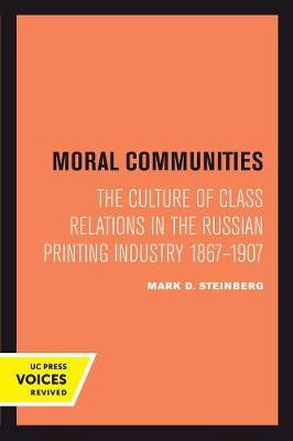 Moral Communities by Mark D Steinberg image