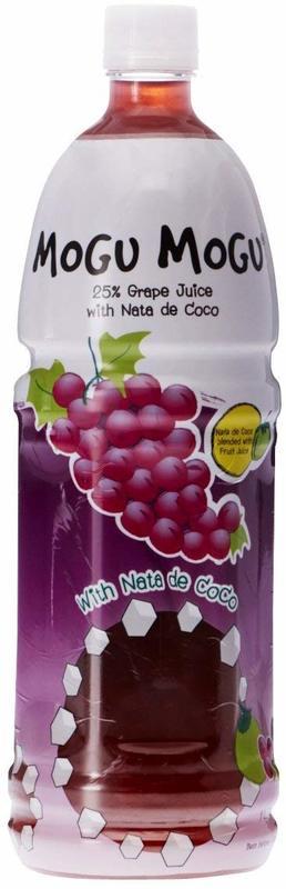Mogu Mogu Grape Flavored Drink 1L
