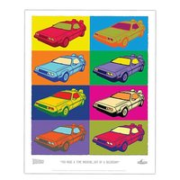 Back to the Future DeLorean Pop Art Lithograph Print