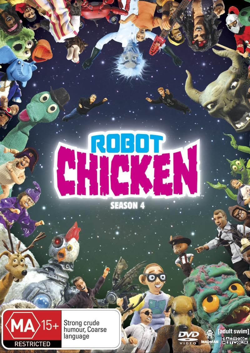 robot chicken season 4 dvd buy now at mighty ape nz