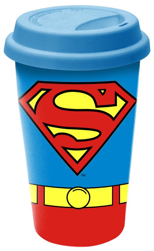 Superman Ceramic Travel Mug