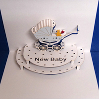Forever Pop Up Card - New Baby Boy