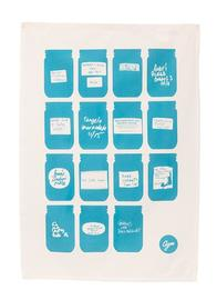 Agee Tea Towel Jars With Labels (70X50cm)