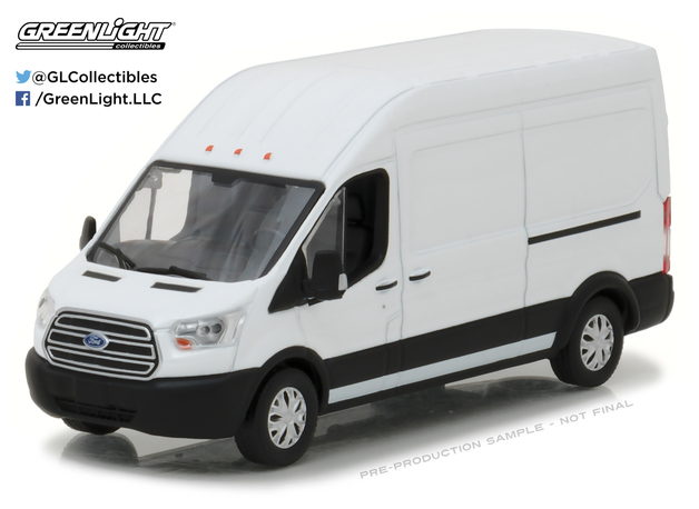 1/43: Ford Transit LWB High Roof - Diecast Model