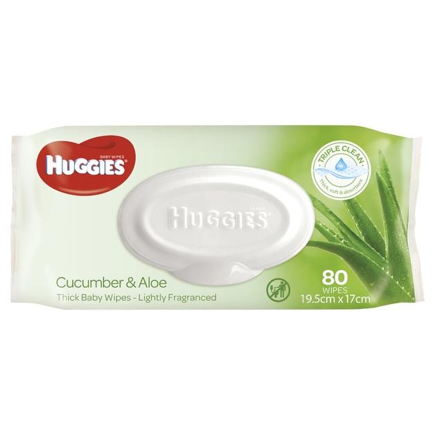 Huggies Baby Wipes - Cucumber & Aloe (80 Wipes)