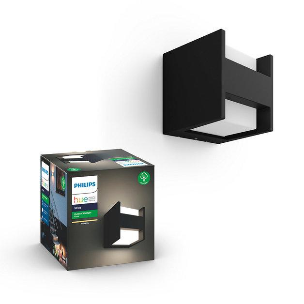 Philips: Hue White Outdoor Fuzo Wall Lantern - Black