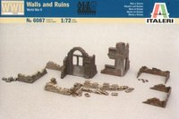 Italeri Wall & Ruins (WWII) 1:72 Model Kit