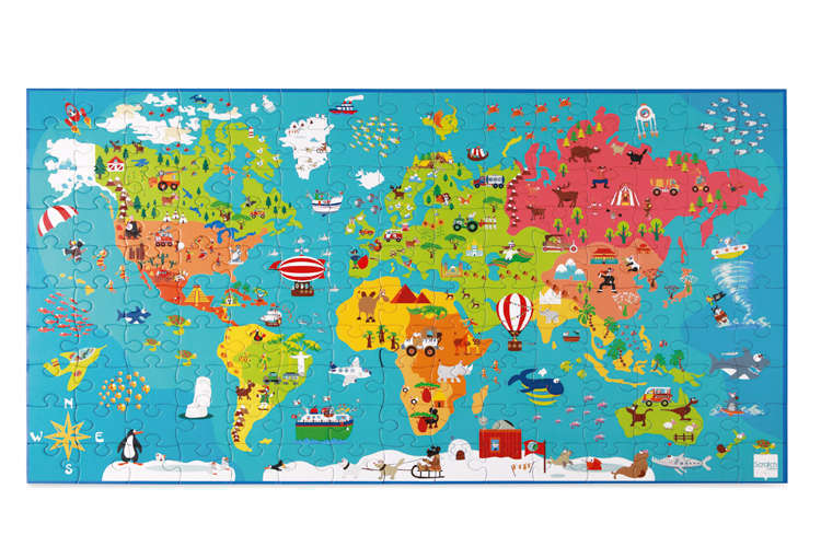 Preschool World Map.Scratch Preschool Puzzle World Map Toy At Mighty Ape Nz