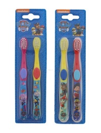 Paw Patrol Twin Toothbrush - Assorted Colours