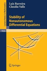 Stability of Nonautonomous Differential Equations by Luis Barreira