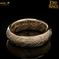 Lord of the Rings: The One Ring by Weta - Size T½, Solid Gold