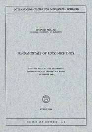Fundamentals of Rock Mechanics by Leopold Muller
