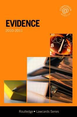 Evidence Lawcards: 2010-2011 by Routledge Chapman Hall image