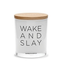 Wake And Slay Candle (XL, White)