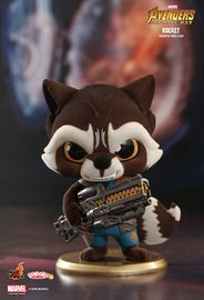 Avengers: Infinity War - Rocket Raccoon (Flocked Ver.) Cosbaby Figure