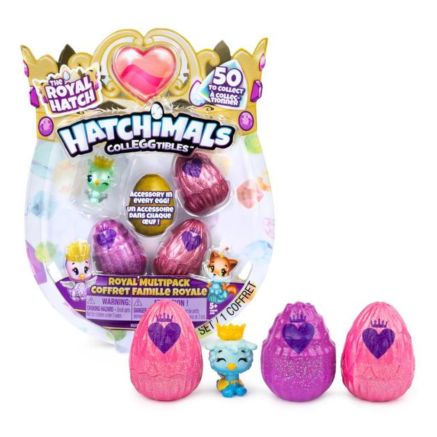 Hatchimals Colleggtibles: Royal Hatch - 4-Pack (Assorted Designs)