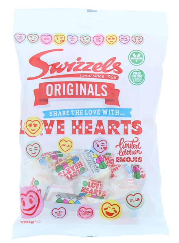 Swizzels: Orig Love Hearts (170g) 12pk