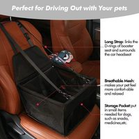 Portable Pet Car Seat - with PVC Support Pipe (Black)
