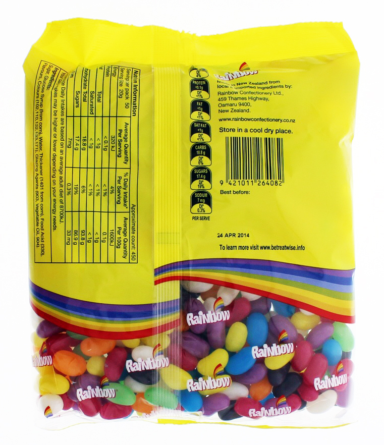 Jelly Beans 1kg - Rainbow Confectionery image