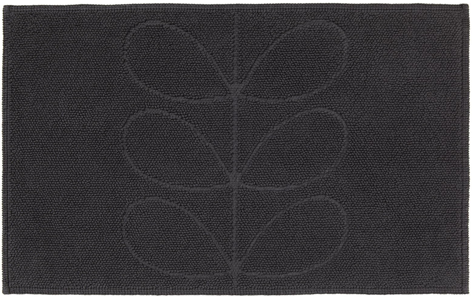 Orla Kiely Sculpted Stem Luxury Bathroom Mat - Slate image