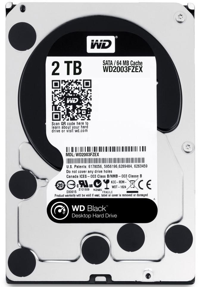 2TB WD Black Edition HDD 7200 RPM image