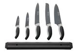 Maxwell & Williams Slice & Dice Knife Magnetic Bar Set - Black (6 Piece)
