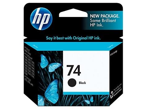 HP 74 Black Ink Cartridge image
