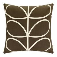 Orla Kiely Linear Stem Cushion Cover - Chocolate