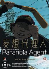 Paranoia Agent Vol 3 - Serial Psychosis on DVD