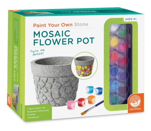 Mindware Create: Paint Your Own Stone - Mosaic Flower Pot