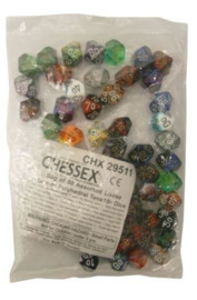 Chessex: D10 Gemini Dice - 50 Pack (Assorted Designs)